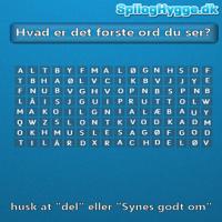 Hvad er det første ord du ser?
