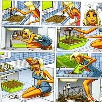 Kvinde som blikkenslager eller gartner